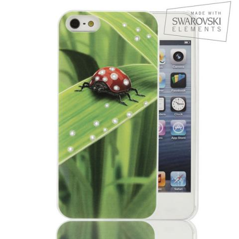 Facecase SWAROVSKI для iPhone 5C Ladybug