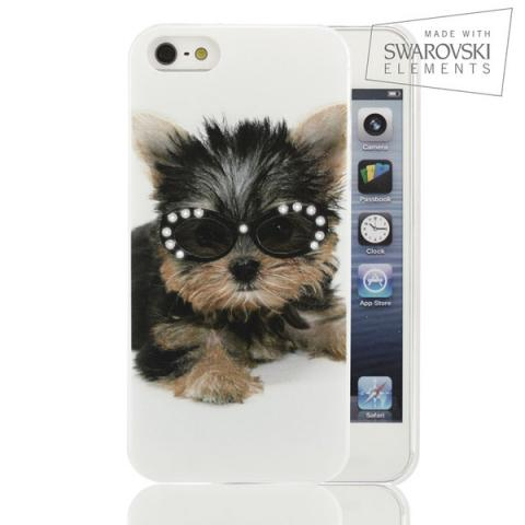 Чехол Facecase Swarovski Apple iPhone 5c Rock n Dog