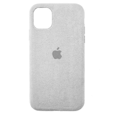 Чехол Alcantara для iPhone 12 Pro Max - Stone