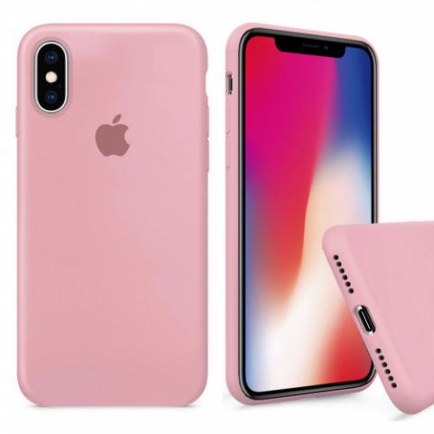Чехол Full Silicone case для iPhone X/XS - Pink