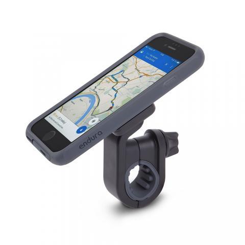 Комплект спорт и экстрим Moshi Biking Kit (чехол Endura + держатель Handlebar Mount) для Apple iPhone 7/8 чёрный