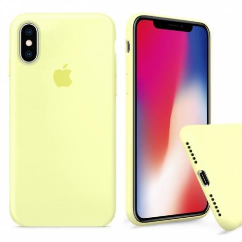 Чехол Full Silicone case для iPhone XS Max - Mellow Yellow