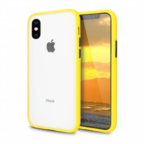 Противоударный чехол AVENGER для iPhone XR - Yellow/Black