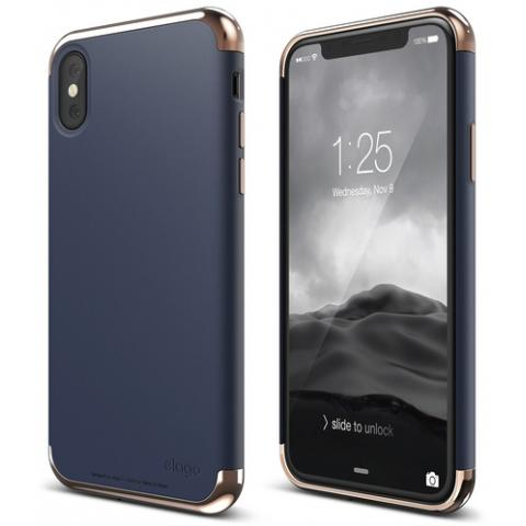 Чехол Elago Empire Case Chrome Rose Gold/Jean Indigo for iPhone X (ES8EM-RGDJIN)
