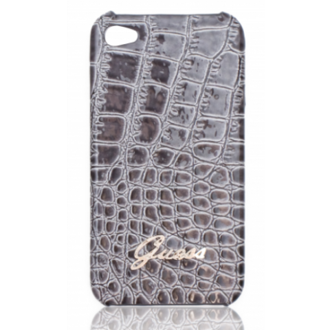 Guess Croco Back Cover  for iPhone 4/4S grey