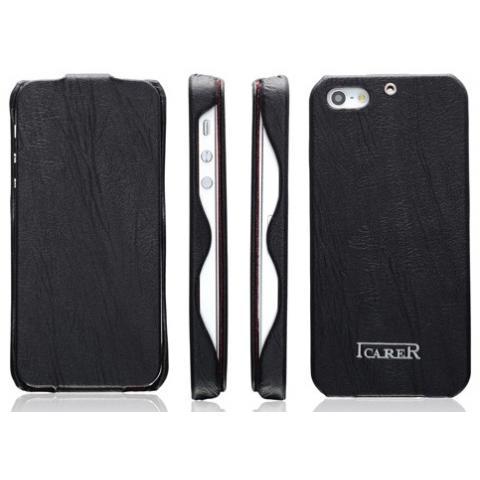 Кожаный чехол iCarer Tree Texture Series для iPhone 5/5s - черный