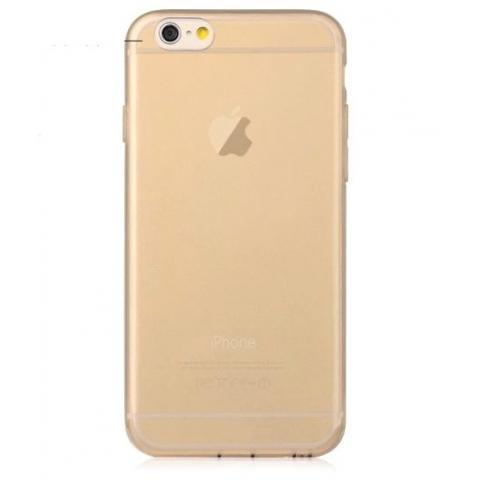 """Силиконовый прозрачный чехол для iPhone 6  (4.7"""") - золото"""