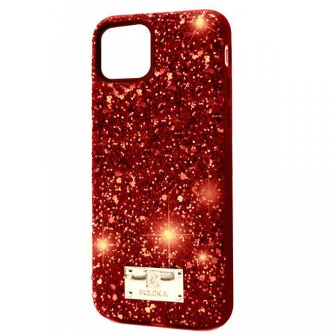 Чехол Puloka Shiny Texture для iPhone 11 Pro Золото/Красный