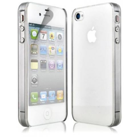 Силиконовый прозрачный чехол для iPhone 4/4s