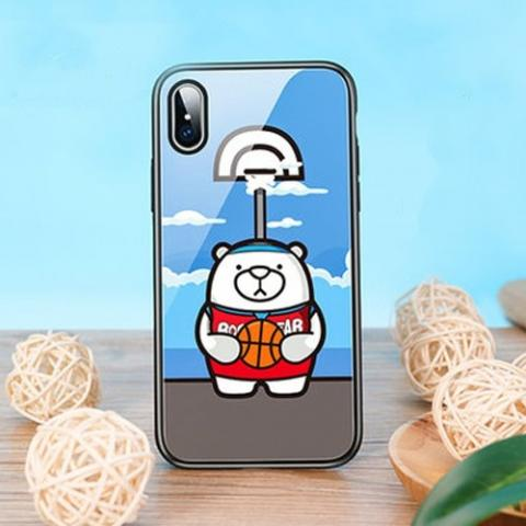 Чехол ROCK Tempered Glass Bear Play для iPhone XS Max