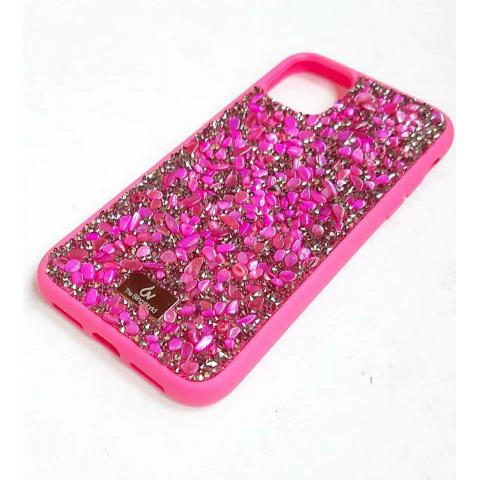 Чехол Bling World Pearl Diamonds (TPU) для iPhone 11 Raspberry