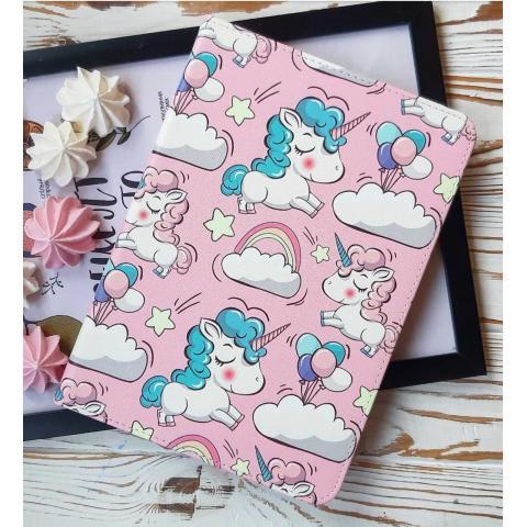 """Чехол Print Case для iPad 9.7"""" (2017/2018) - Unicorn Pink"""