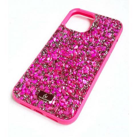 Чехол Bling World Pearl Diamonds (TPU) для iPhone 12/12 Pro Raspberry