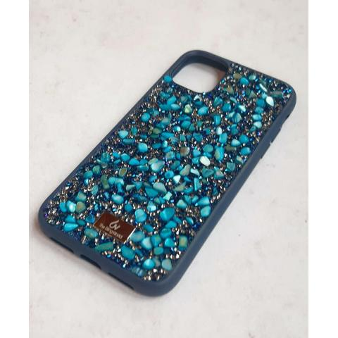 Чехол Bling World Pearl Diamonds (TPU) для iPhone 11 Emerald Blue
