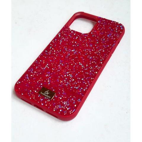 Чехол Bling World Pearl Diamonds (TPU) для iPhone 12 Pro Max Red