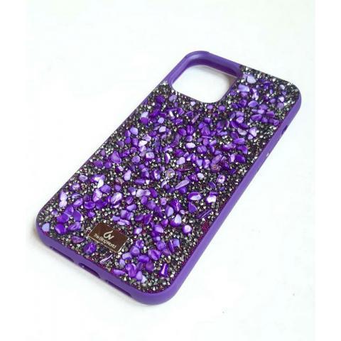 Чехол Bling World Pearl Diamonds (TPU) для iPhone 12/12 Pro Purple