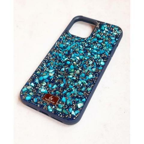 Чехол Bling World Pearl Diamonds (TPU) для iPhone 12/12 Pro Emerald Blue