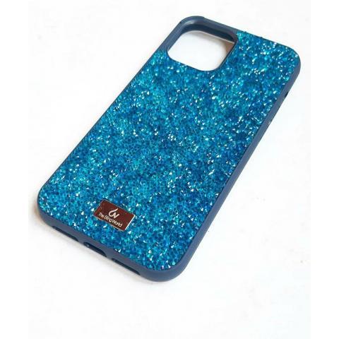 Чехол Bling World Pearl Diamonds (TPU) для iPhone 12/12 Pro Marine Blue