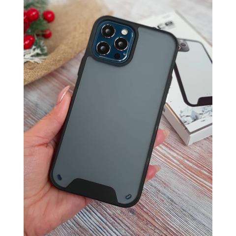 Противоударный матовый чехол Space Case Series для iPhone 12 Pro Max черный