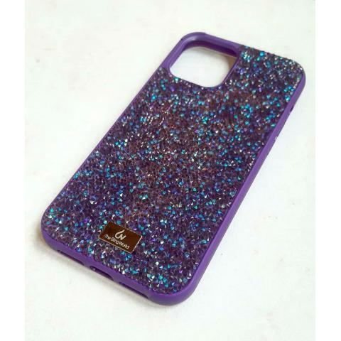 Чехол Bling World Pearl Diamonds (TPU) для iPhone 12/12 Pro Violet