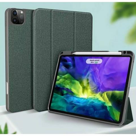 """Противоударный чехол-книжка Mutural YASHI Series для iPad Pro 11"""" M1 (2021) - зеленый"""