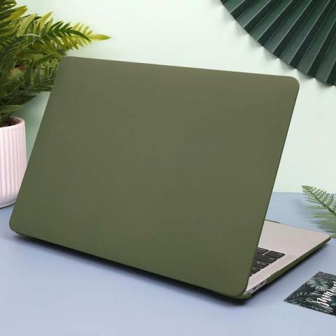"Чехол-накладка HardShell Case Cream soft-touch для MacBook Air 13"" (2018-2020) Matte Virid"