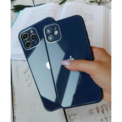 Glass Case с защитой для камеры для iPhone 12 Pro Max - Deep Navy
