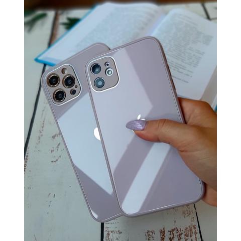 Glass Case с защитой для камеры для iPhone 11 Pro Max - Blueberry