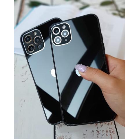 Glass Case с защитой для камеры для iPhone 11 - Black