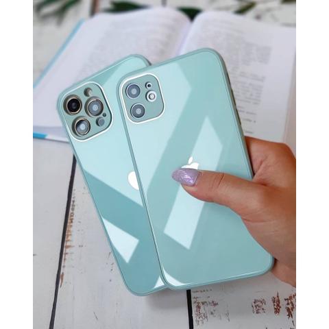 Glass Case с защитой для камеры для iPhone 11 Pro Max - Mint