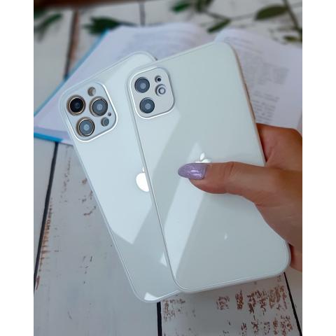 Glass Case с защитой для камеры для iPhone 11 Pro - White