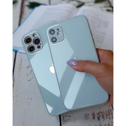 Glass Case с защитой для камеры для iPhone 11 - Mist Blue