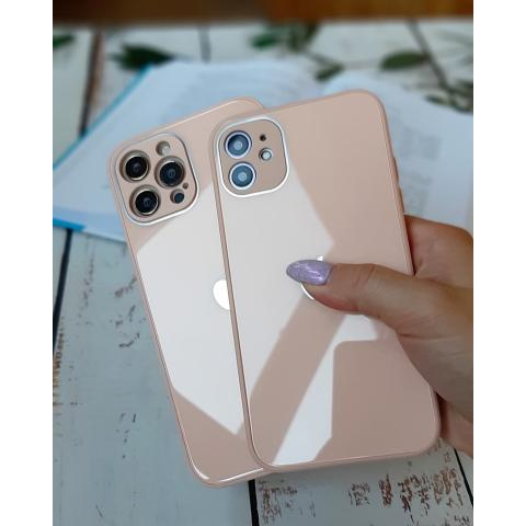 Glass Case с защитой для камеры для iPhone 11 Pro Max - Pink Sand