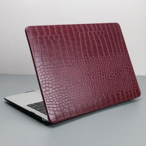 """Чехол-накладка Crocodile HardShell Case for MacBook Air 13"""" (2018-2020) Marsala"""