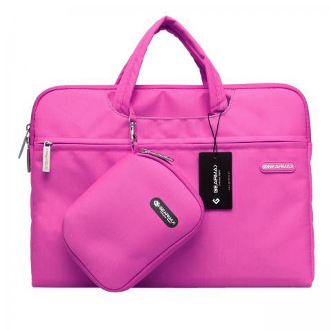 """Чехол-сумка WIWU Gearmax для MacBook 13""""/MacBook 13,3"""" Campus Slim Series Pink"""