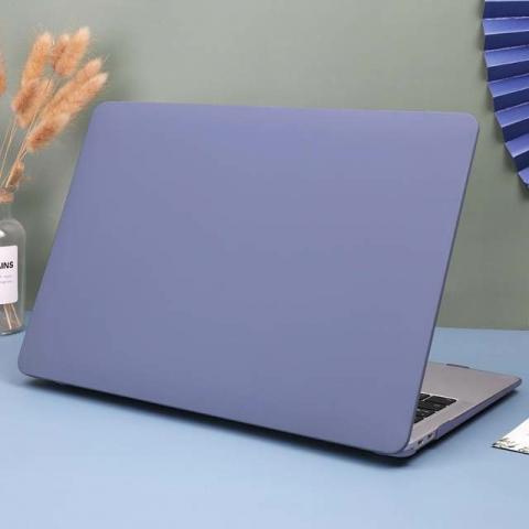 "Чехол-накладка HardShell Case Cream soft-touch для MacBook Air 13"" (2018-2020) Matte Lavander Grey"