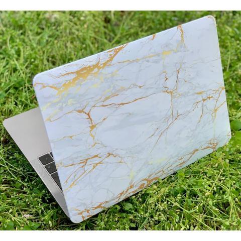 """Матовый чехол для MacBook Air 13"""" (2018-2020) Marble Gold"""