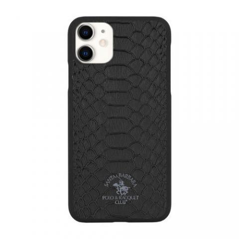 Кожаный чехол Polo Knight черный для iPhone 11