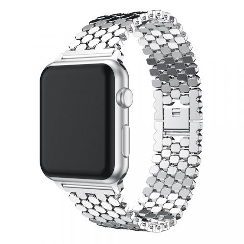 Ремешок для Apple watch 42/44 mm Paco Rabanne Silver