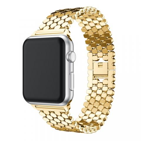Ремешок для Apple watch 38/40 mm Paco Rabanne Gold