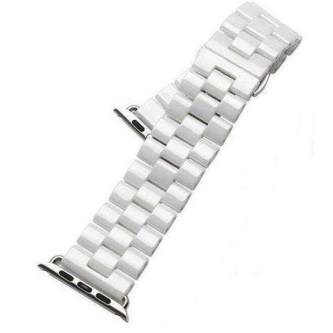 Ремешок для Apple watch 38/40 mm Ceramic 3-bead White