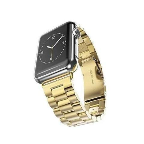 Металлический ремешок STR 3-Bead Metal Band for Apple Watch 42/44 mm - Gold