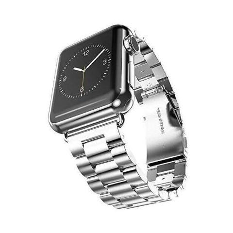 Металлический ремешок STR 3-Bead Metal Band for Apple Watch 42/44 mm - Silver