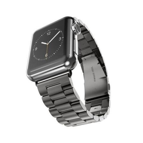 Металлический ремешок STR 3-Bead Metal Band for Apple Watch 42/44 mm - Black