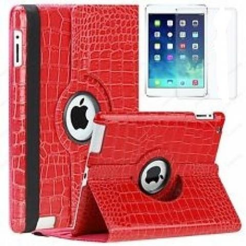 Чехол 360° Rotating Stand/Case Crocodile для iPad 4/ iPad 3/ iPad 2 - красный