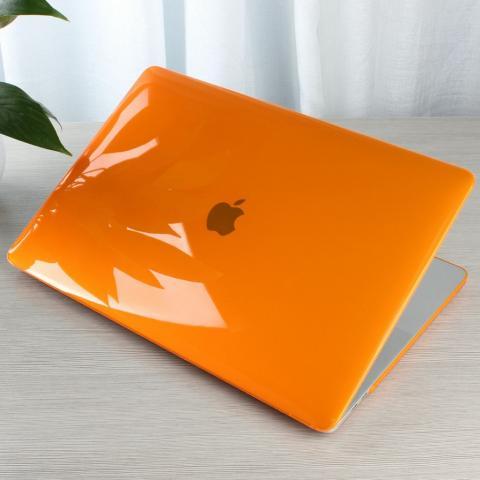 """Чехол накладка HardShell Case for MacBook Air 13"""" (2018-2020) Crystal Orange"""