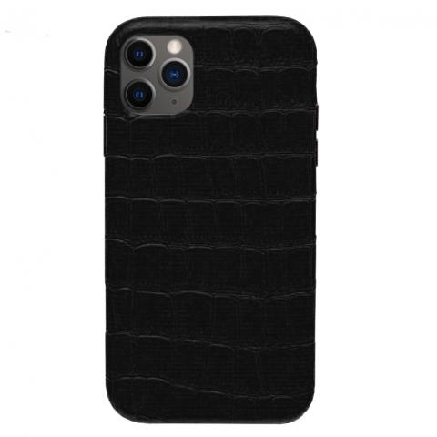 Чехол Crocodile Full Leather Case для iPhone 12 Pro Max Black