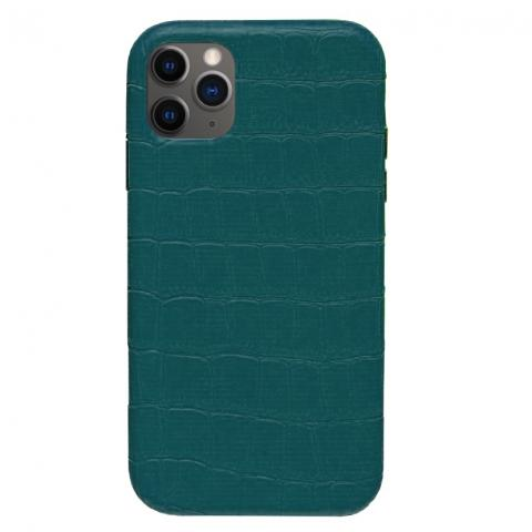 Чехол Crocodile Full Leather Case для iPhone 12 Pro Max Forest Green