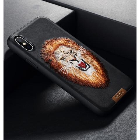 Чехол для IPhone X Rock Beast Series Embroidery Lion