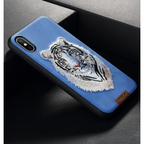 Чехол для IPhone X Rock Beast Series Embroidery Tiger